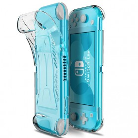 HKFZ TPU Protective Case Cover Shockproof for Nintendo Switch Lite - ED021 - Transparent