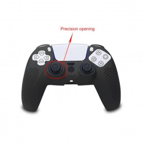 Rondaful Gamepad Controller Silicone Protective Case Cover for Playstation 5 - ED023 - Black - 3