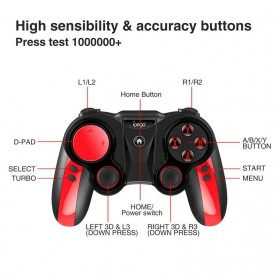 Ipega Wireless Bluetooth Gamepad - PG-9089 - Black - 4