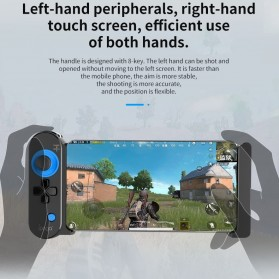 IPEGA Unicorn II One-Handed Telescopic Retractable Gamepad Bluetooth MOBA PUBG FPS - PG-9120 - Black - 8