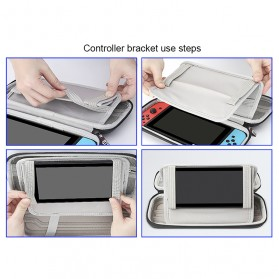 BUBM EVA Protective Carry Case with Stand for Nintendo Switch - SWITCH-Z - Black - 4