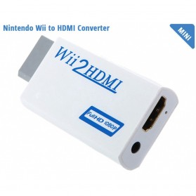 Elistooop Video Konverter Nintendo Wii ke HDMI + 3.5mm Port - 8147 - White