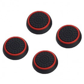 Silicone Thumb Cover 4PCS for Playstation Dualshock 4 - Black/Red