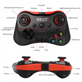MOCUTE Gamepad Bluetooth for Moba FPS L1 R1 22 Tombol - 056 - Black - 2