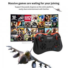MOCUTE Gamepad Bluetooth for Moba FPS L1 R1 22 Tombol - 056 - Black - 3
