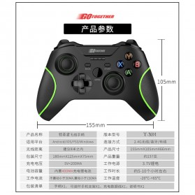 GOTogether Wireless Bluetooth Gamepad - TGZ-X10A - Black - 7