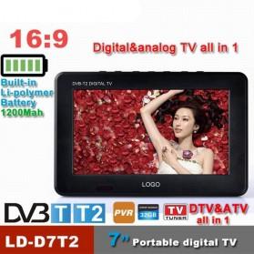 Portable TV Monitor 7 Inch DVB-T2 + Analog - D7 - Black - 2