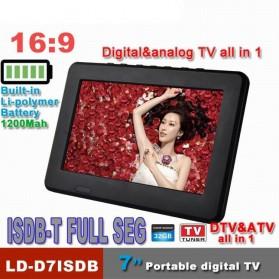 Portable TV Monitor 7 Inch DVB-T2 + Analog - D7 - Black - 3