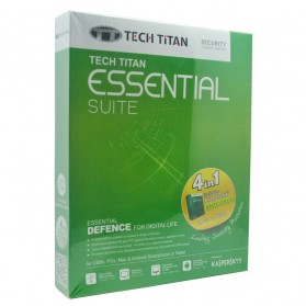 Tech Titan 4 in 1 Essential Suite with Kaspersky Anti-Virus 3 User