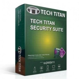 Software Antivirus Kaspersky, Norman, Norton - Tech Titan 4 in 1 Security Suite with Kaspersky Anti-Virus 3 User