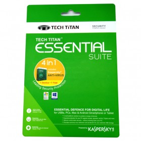 Software Antivirus Kaspersky, Norman, Norton - Kaspersky Anti Virus 2017 Tech Titan Essential Suite 1 User