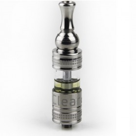 Innokin iClear X.I Pyrex Glass Dual Coil Clearomizer Rotatable Drip Tip 2.1 Ohm - Silver - 2
