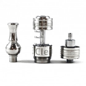 Innokin iClear X.I Pyrex Glass Dual Coil Clearomizer Rotatable Drip Tip 2.1 Ohm - Silver - 8