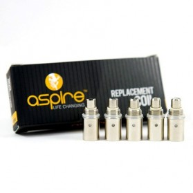 Aspire BDC Replaceable Dual Coils 1.8 Ohm 5 piece - Silver - 1