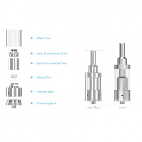 Eleaf Lemo Drop RDTA Rebuildable Atomizer 2.7ml - Black - 4