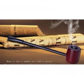 Popeye Flat Smoking Pipes Mahogany Wood / Pipa Rokok - WD-051 - Brown - 5
