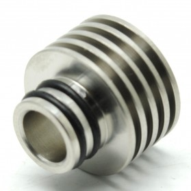 Stainless Steel Wide Bore Drip Tip Vaporizer - Silver
