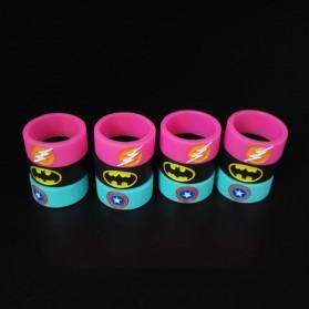 Vape Silicone Rubber Band DC Logo 20mm 1PCS - Multi-Color - 8