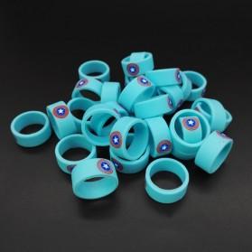 Vape Silicone Rubber Band DC Logo 20mm 1PCS - Multi-Color - 10