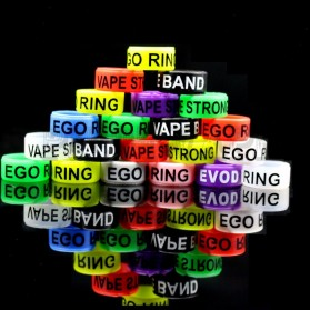 Vape Silicone Rubber Band Random Logo 16mm 1PCS - Multi-Color