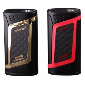 Authentic SMOK Alien Kit Variable Voltage Wattage Box Mod - Black/Red - 2