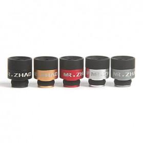 Mr.Zhao Aluminium + POM Hybrid Drip Tip Vaporizer - Black - 4