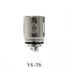 Vape (Vaporizer) - RBA Heating Coil TFV8 Tank 3 PCS - V8-T6 - Silver