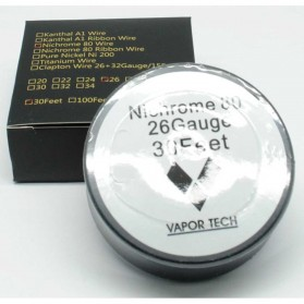 Vaportech Authentic Pure Nichrome 80 Wire Coil Vape 30 Feet 26AWG - 3