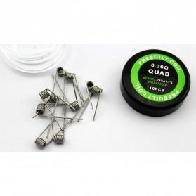 Prebuilt Coil Quad Wire 28GA 4 0.36Ohm 10 PCS
