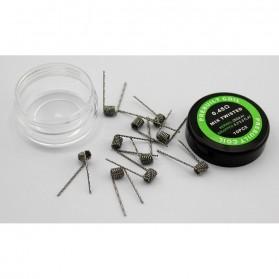 Prebuilt Coil Mix Twisted Wire 0.2 0.8+26GA 0.45ohm 10 PCS
