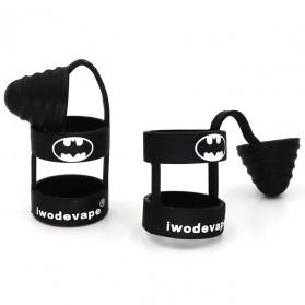 Batman Rubber Band Vape dengan Drip Tip Cap - Black