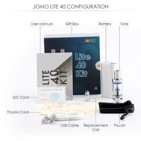 JOMOTECH Lite 40 Kit Vape Box Mod 40W 2200mAh - Jomo-002 - Black - 9