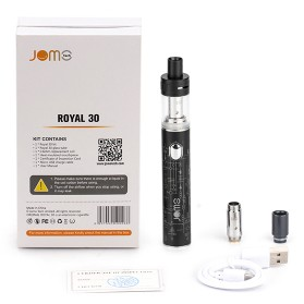 Vape (Vaporizer) - JOMOTECH Royal 30 Vape Box Mod Kit 30W 1150mAh - Jomo-199 - Black