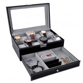 Kotak Organizer Perhiasan dan Jam Tangan - JB2013 - Black - 1