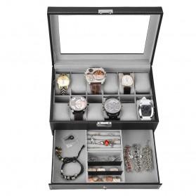 Kotak Organizer Perhiasan dan Jam Tangan - JB2013 - Black - 2