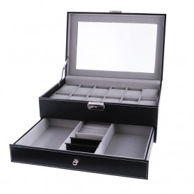 Kotak Organizer Perhiasan dan Jam Tangan - JB2013 - Black - 3