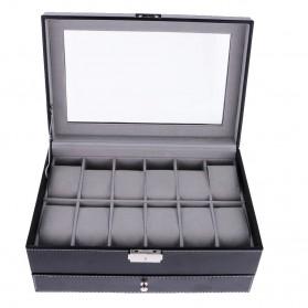 Kotak Organizer Perhiasan dan Jam Tangan - JB2013 - Black - 4
