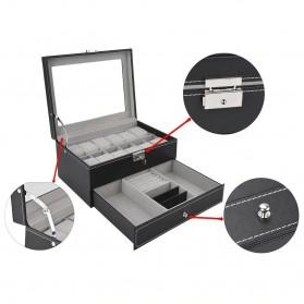 Kotak Organizer Perhiasan dan Jam Tangan - JB2013 - Black - 6