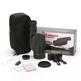 Gomu Teropong Monocular Outdoor Magnification HD Zoom 13x50 - Black - 4