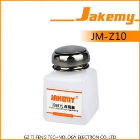 Jakemy Liquid Alcohol Plastic Dispenser Bottle 120ml - JM-Z10 - White