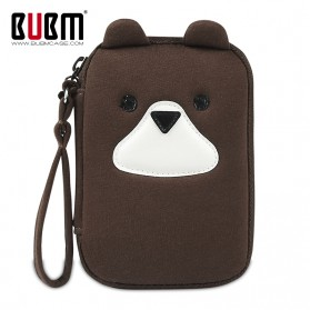BUBM Tas Hard Disk External Organizer Single Layer - QXD-S (ORIGINAL) - Brown
