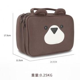 BUBM Tas Gadget Organizer Model Bear - DPS-X (ORIGINAL) - Brown - 4