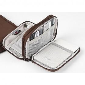 BUBM Tas Hard Disk External Organizer Double Layer - QXD-D (ORIGINAL) - Brown - 2