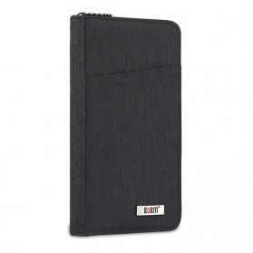 BUBM Cover Passport Multifungsi Bahan Nylon - Black
