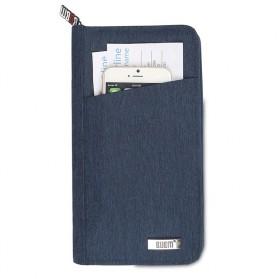 BUBM Cover Passport Multifungsi Bahan Nylon - Black - 6