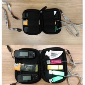 BUBM Universal Electronics Accessories Portable Case - BUBM-6U (ORI) - Black - 6