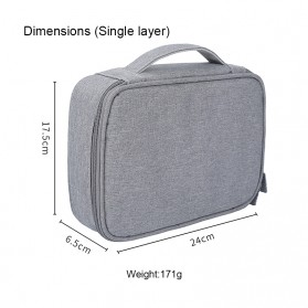 BUBM Tas Gadget Organizer - DMS-MYB (ORIGINAL) - Gray - 7