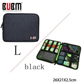 Jual Aksesoris Penyimpanan Data Eksternal - BUBM Gadget Organizer Bag Portable Case - DIS-L (ORIGINAL) - Black/Green