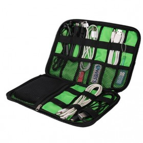 BUBM Gadget Organizer Bag Portable Case - DIS-L (ORIGINAL) - Black/Green - 2