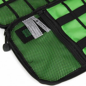 BUBM Gadget Organizer Bag Portable Case - DIS-L (ORIGINAL) - Black/Green - 3